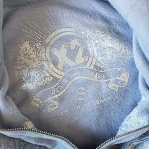 Express Tops - 🌼{ express } embroidered velour zip up hoodie